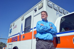 Lake EMS executive director Jerry Smith is photographed at the Lake EMS station in Leesburg by Amber Riccinto / Daily Commercial